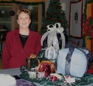 Julie on the Carol Duvall TV Show Set