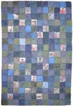 Blue Flannel Rag Edge Quilt