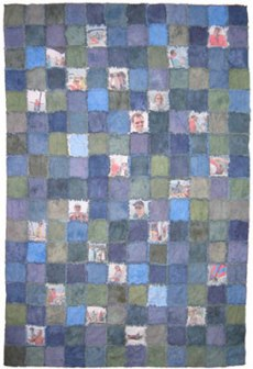 Blue Flannel Rag Edge Quilt